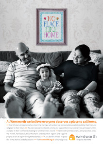 Wentworth-no place like home - ad